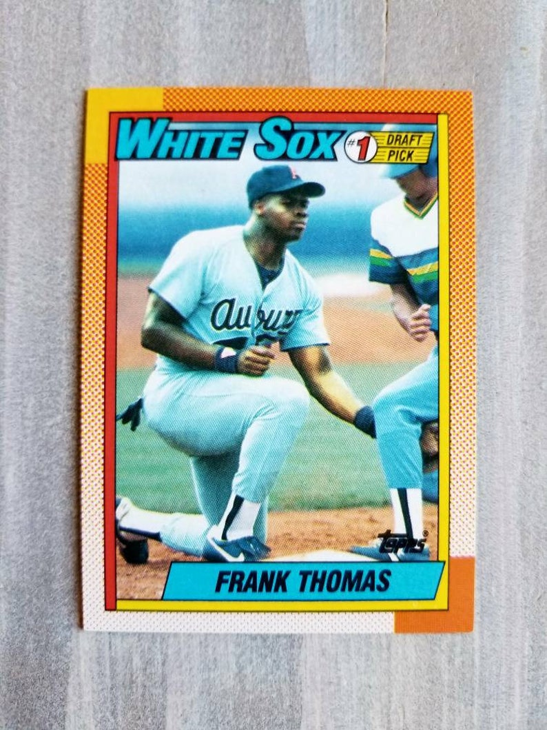 ecad9b15b 1990 Topps Frank Thomas ROOKIE CARD Chicago White Sox