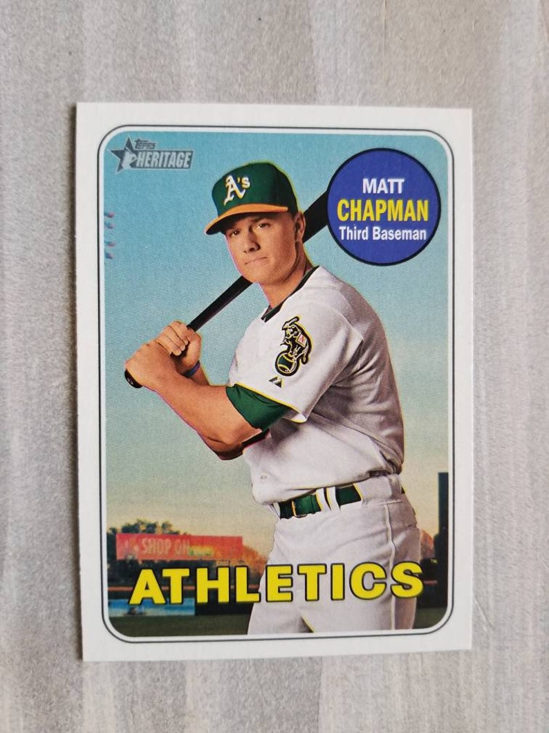 sports shoes f334c fc5f3 Matt Chapman Topps Rookie Card! Oakland Athletics, Oakland A's Gifts for  Men, Gifts for Boyfriend Gift for Him, Stocking Stuffers