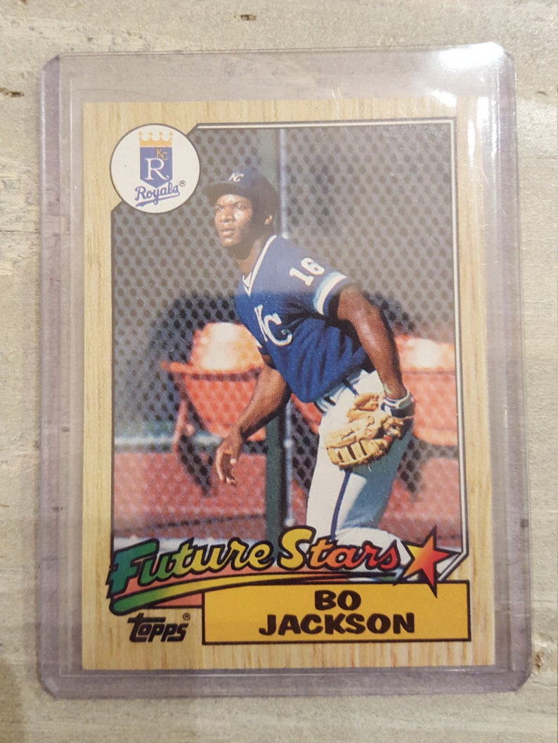 1987 Topps Bo Jackson Rookie Card Royals Gift White Sox Raiders Baseball Cards Gifts For Men Gifts For Him Gifts For Boyfriend Gift