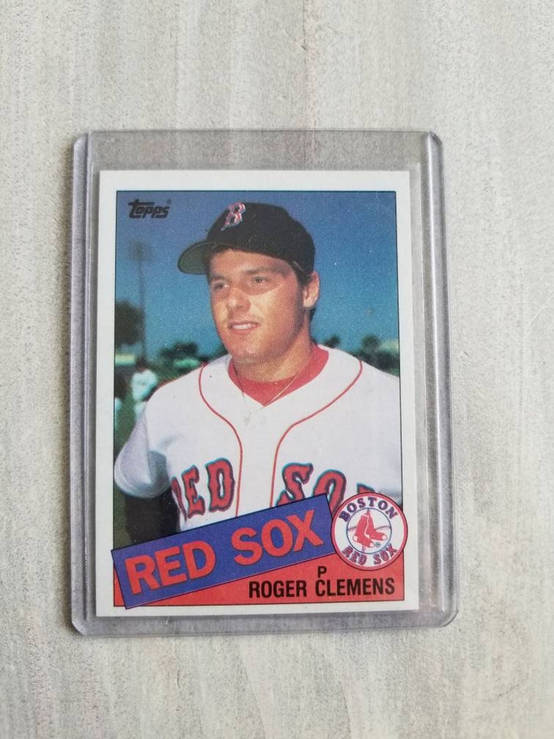 Roger Clemens 1985 Topps Rookie Card Boston Red Sox Gift Houston Astros Gift New York Yankees Gift Vintage Baseball Cards Gifts For Men