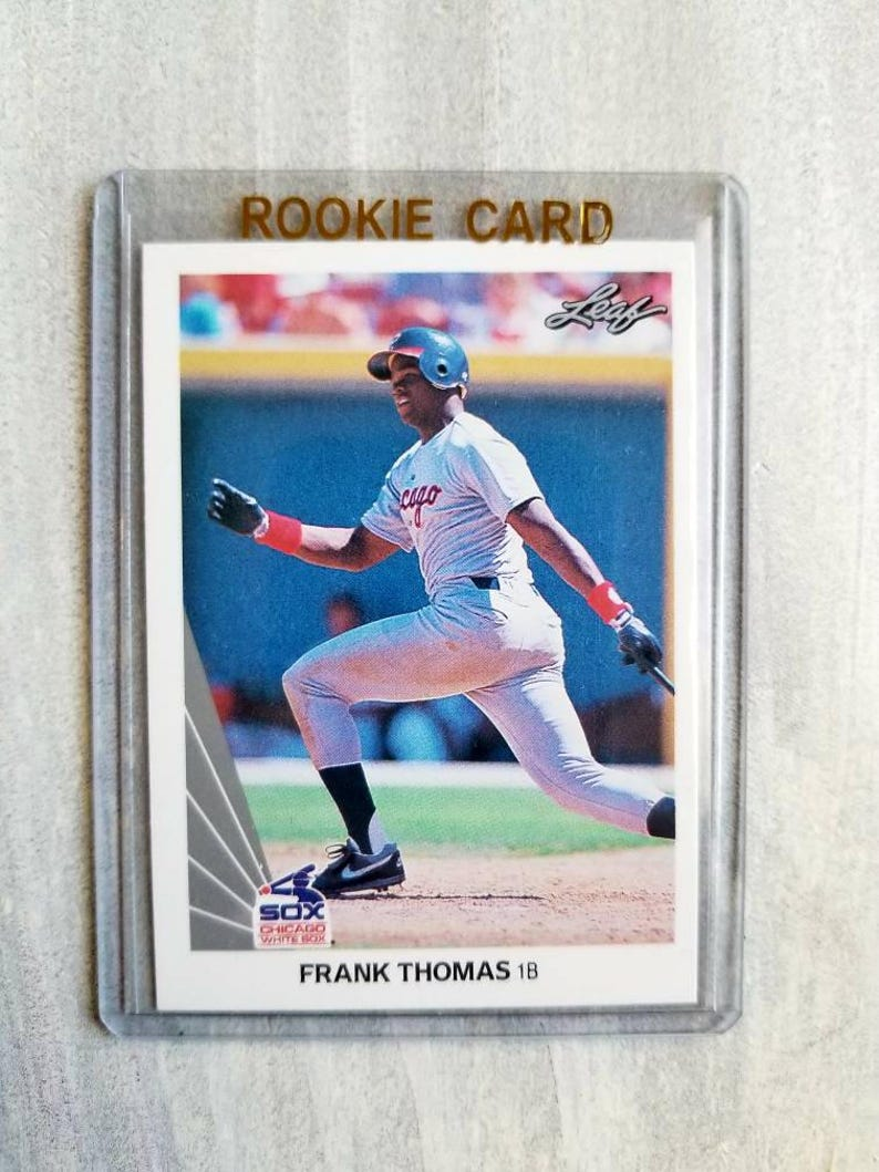 6cb90a9c1 Frank Thomas ROOKIE CARD 1990 Leaf Chicago White Sox