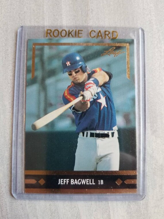 Jeff Bagwell Leaf Rookie Card True Rookie Houston Astros Baseball Cards Atros Gift Boyfriend Gift Gifts For Men Birthday Gift