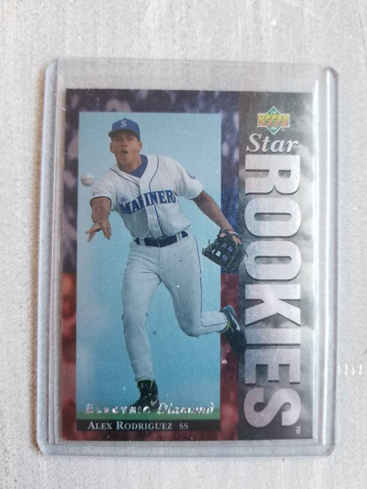 Alex Rodriguez Electric Diamond Rookie Card Seattle Mariners Texas Rangers New York Yankees Gifts For Men Gifts For Boyfriend Gift