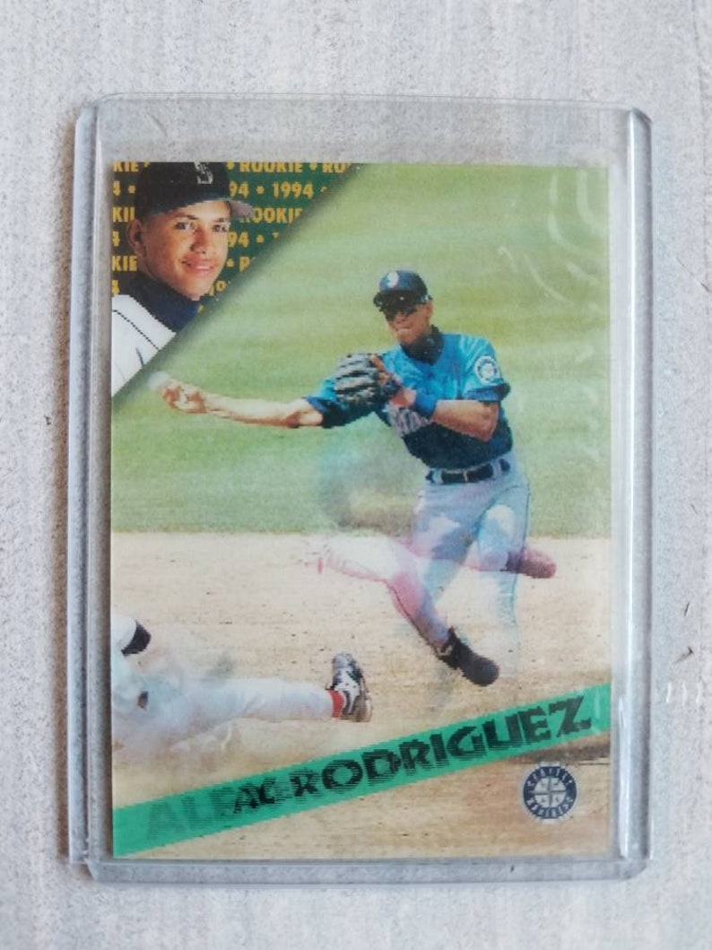 Alex Rodriguez Sportflics Rookie Card Seattle Mariners Texas Rangers New York Yankees Gifts For Men Gifts For Boyfriend Gift For Him