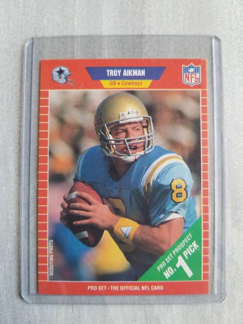 Troy Aikman Rookie Card Dallas Cowboys Gift Ucla Bruinsgift Ou Oklahoma Sooners Birthday Gift For Men Boyfriend Gift For Him