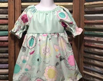 Girls dress, Girls peasant dress, Girls Easter dress, Toddler dress, Girls Birthday dress, Size 2, Girls spring or summer dress, #224