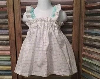 Girls dress, Girls Easter dress, Toddler dress, Girls arrow sundress, Girls Birthday dress,  Girls spring or summer dress, size 2T, #206