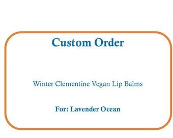 Winter Clementine VEGAN Lip Balms