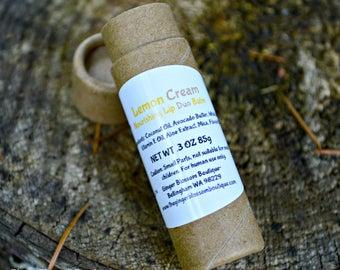 Lemon Cream Duo Nourishing Lip Balm, lipcare, lemons, moisturize, protect natural, earth friendly