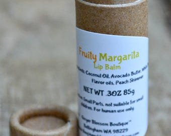 Fruity Margarita Lip Balm, Natural, Drinks, Moisturize, Smoothness, Travel, Accessories, Gifts, Holidays, Stockings, Fruity, Zesty,