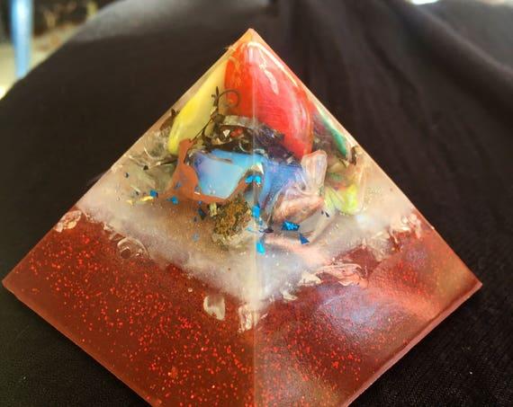 Cosmic Energy Orgone Pyramid- with Titanium Shavings- Astral Travel- Empath Protection Orgone Energy Pyramid- Pyramid Energy Healing Orgone