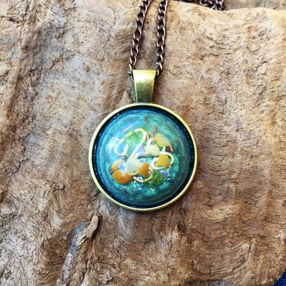 High Priestess Orgone Amulet- Orgone Energy Pendant- Peridot Alchemy Orgone Energy Necklace- Dark Magic Protection- Curse Sheild Talisman