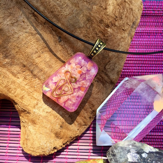 Weightloss Orgone Energy Charm- Fairy Magic- Free Spirit Root chakra Orgone Necklace- Grounding and Cleansing Energy- EMF Orgone Protection