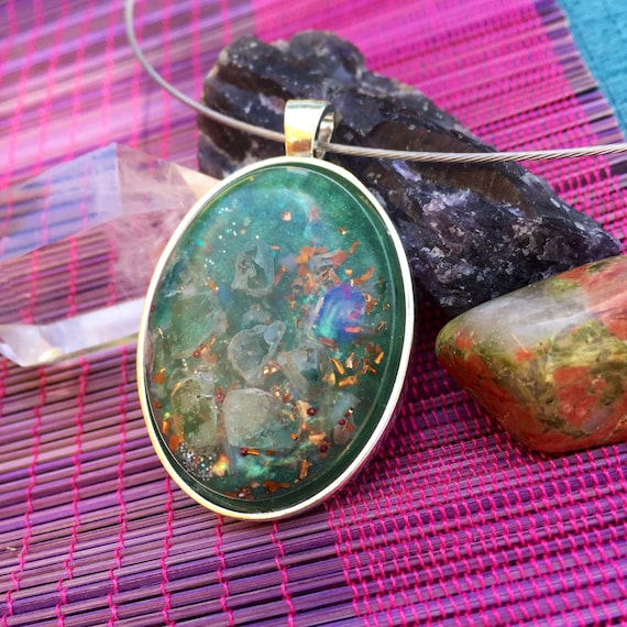 Spirite Guide Orgonite® Pendant- Dream Work Blue Apetite Orgone- For Communication with Higher-Self- Courage- Third Eye Charka Healing
