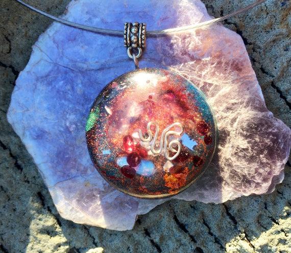 Star Child Orgone Energy Generator Pendant- Astral Travel- Time Travel Orgonite®- Portal Key Orgone Energy Necklace- Fairy Magic Orgonite®