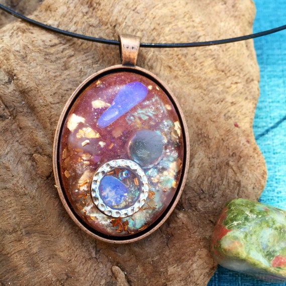Astral Travel Orgonite® Pendant- Dream Work Labradorite Orogne- Negative Energy Shield- Trauma Healing- Love Attraction- Vision Quest