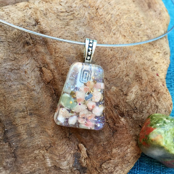 Weightloss Orgone Energy Charm- Fairy Magic- Free Spirit Root chakra Orgone Necklace- Himalayan Salt Orgonite Pendant- Cleansing Orgonite
