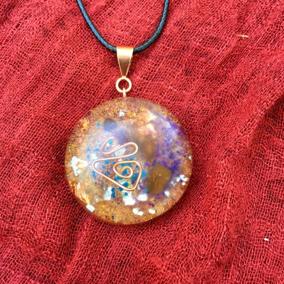 Cosmic Spiral Orgone Pendant- Spiritual Protection Orgone Energy Generator- Violet Flame Orgone Energy Amulet- Spiritual Healing Orgone