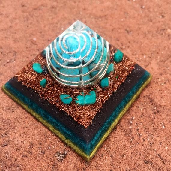 Starseed Orgonite® Pyramid- Atlantis Orgone Energy Pyramid- Amethyst Opal & Sunstone Pyramid- Sacred Feminine Healing Energy Orgonite