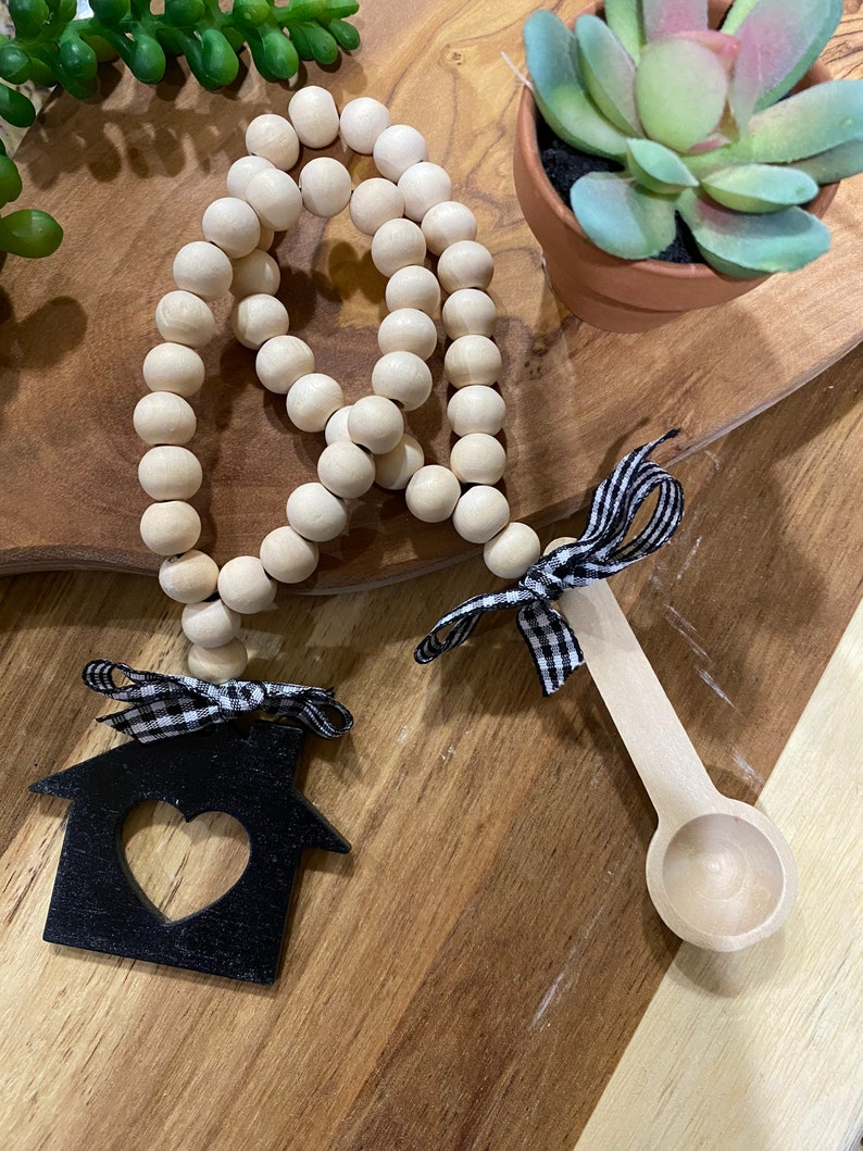 bacon my heart mini rolling pin etc Mix and match funny kitchen menu Farmhouse kitchen tiered tray black /& white EAT scrabble tiles