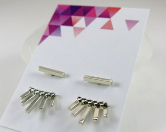 Earrings fan/earrings/Silver Earrings in silver/Handcrafted earrings/Sterling Silver earrings