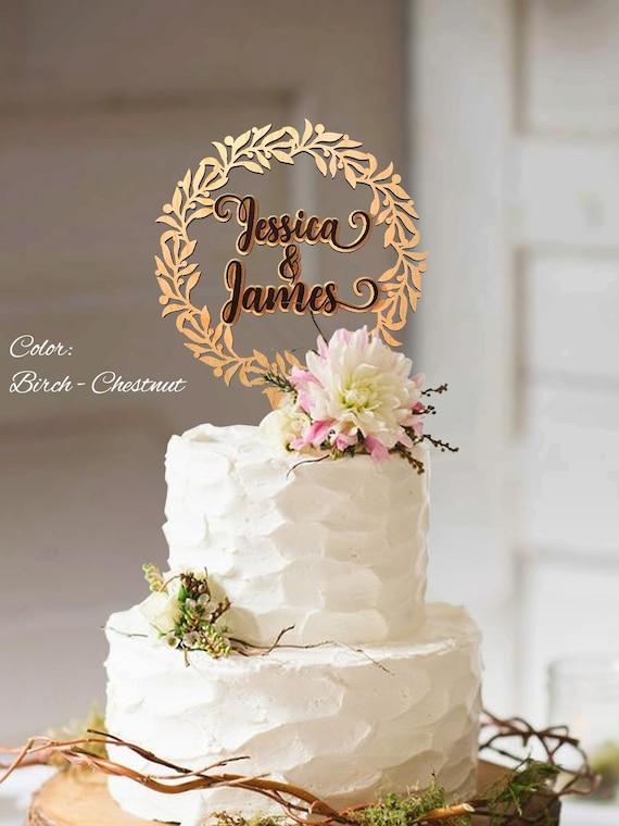 Mariage De Cake Topper Gateau Mariage Rustique Couronne De Gateau Gateaux De Mariage Rustique Mariage Rustique De Cake Topper