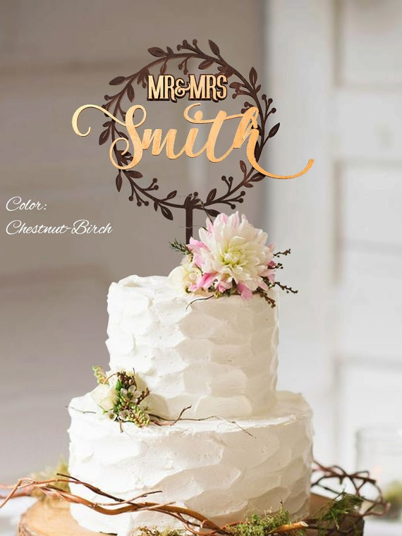 Rustic Wedding Cake Topper Rustic Wedding Decor Rustic Cake Etsy