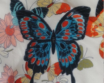 LARGE BLUE BUTTERFLY SCARF INSECT MOTH SCARF SHAWL WRAP SARONG CHRISTMAS GIFT