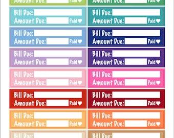 Skinny Bill Due Stickers