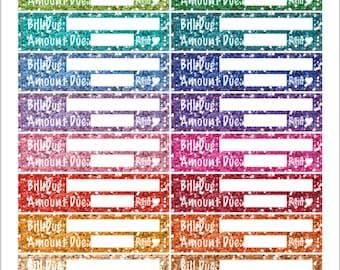 Skinny Glitter Bill due stickers