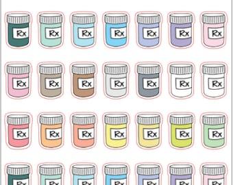 Mini prescription stickers