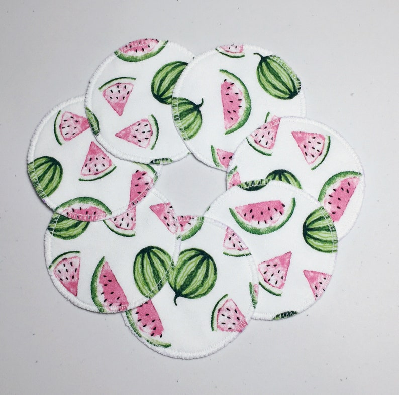 c59b7fa53a Reusable Makeup Remover Pads Water Melon Print Makeup Wipes | Etsy