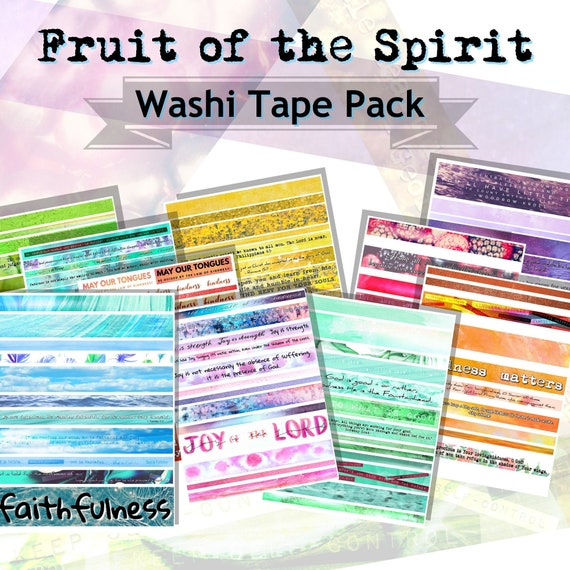 washi tape pack fruit of the spirit printable washi tape