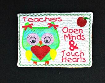 Mug Rug/Quilted Coaster/Snack Mat/Mug Mat/Coaster Mug Rug/Quilted Mug Rug/Career Rug Teacher/Teacher Gift/Female