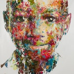 Shai Yossef Oil painting large/small/medium print on canvas,amazing black boy portrait SPECIAL OFFER