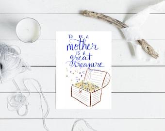 Mother's Day Card - Treasure - Catholic Greeting Card - 5x7