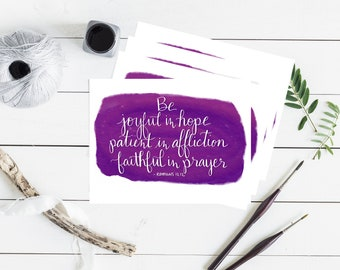 Encouragement Bible Verse Note Card - Set of 4 - Blank