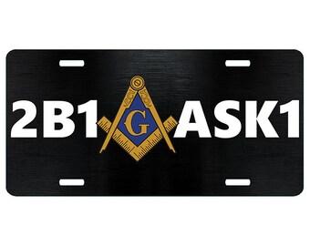 Masonic car tag | Etsy