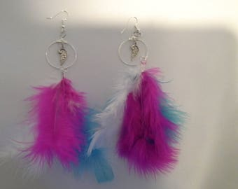 ring earring wings and feathers