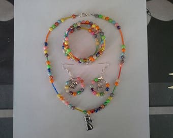 set three multicolored pieces for child