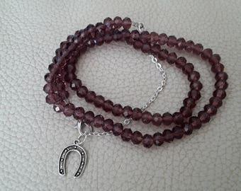 Bracelet to wrap glass beads