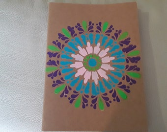 Handpainted white page book