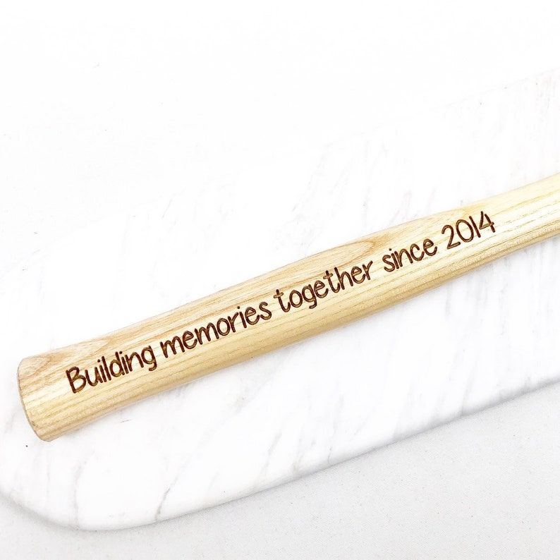 uncle Personalised hammer wooden hammer Father/'s Day gift ideas building memories since gift for him gift for grandad
