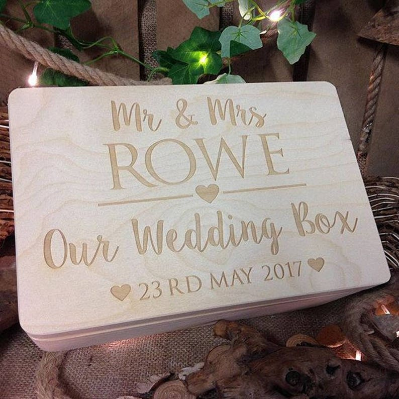 Wedding Memory Box Rustic Wedding Gift Keepsake Memory Box Bride And Groom Gift Wooden Keepsake Box Personalised Box Wedding