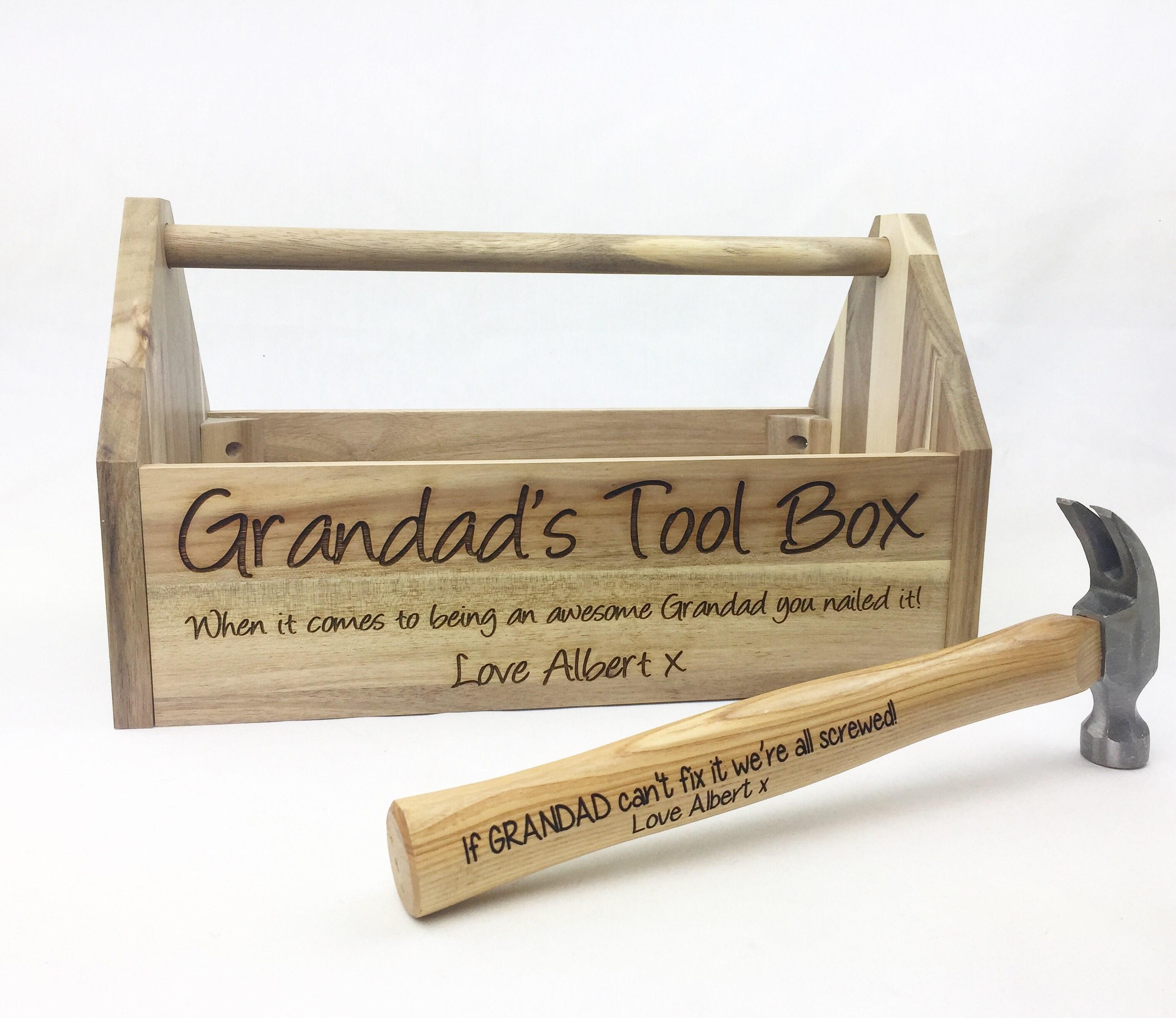 Vatertag Geschenk Toolbox personalisierte Werkzeugkasten | Etsy