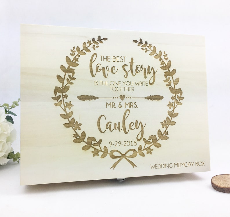 Wedding Memory Box Keepsake Wedding Gift Memory Box Wedding Gift Wooden Keepsake Box Personalised Box Wedding Rustic Wedding