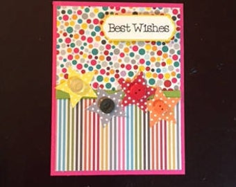 birthday homemade card; homemade birthday cards; homemade cards; blank inside; birthday cards; best wishes