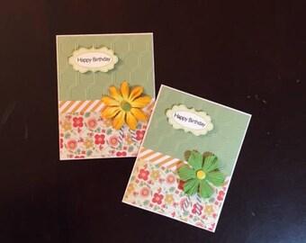 birthday homemade card; homemade birthday cards; birthday cards; card with flowers; homemade cards; homemade greeting cards; blank cards