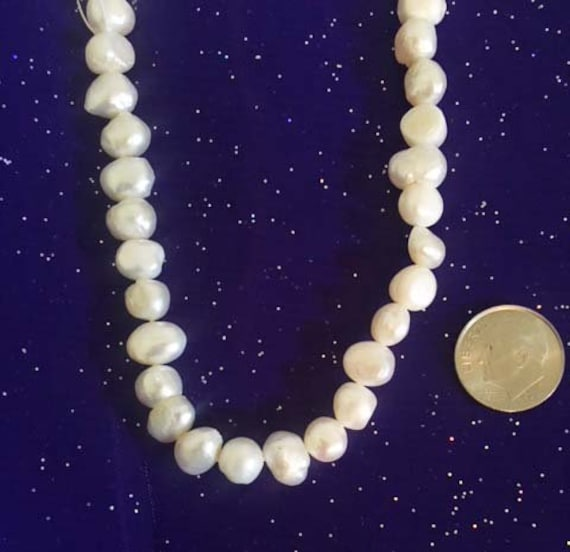 """1/"""" 2/"""" 3/"""" 4/"""" 5/"""" 6/"""" Cultured Freshwater 8 mm White Pearl Strand Necklace extender"""