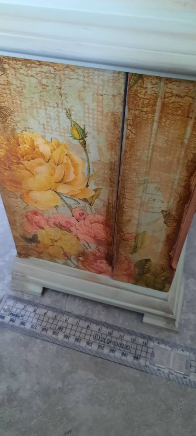 Shabby chic CLOCK jewelry box,Shabby chic jewelry box,hidden drawers.vintage jewellery drawers armoire clock,decoupage clock,Gift for HER